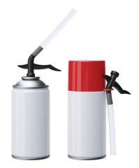 PU-Foam tubes isolated on white