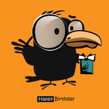 Happy Birthday smile birds card