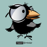 Happy Birthday smile birds funny