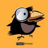 Happy Birthday smile birds gift