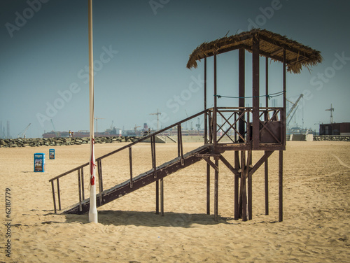 Lifeguard watchtower at Dubai beach, UAE Poster