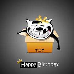 Happy Birthday smile cat gift