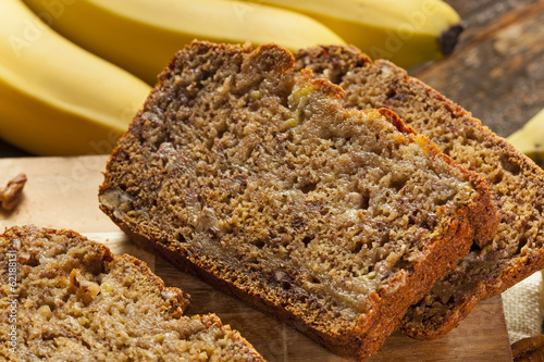 Foto op Canvas Brood Homemade Banana Nut Bread