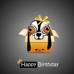 Happy Birthday smile dog gift