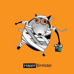Happy Birthday smile dog gift card