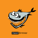 Happy Birthday smile fish card