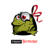 Happy Birthday smile frog gift