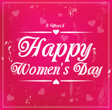 Card for international Women's Day on 8 March vector