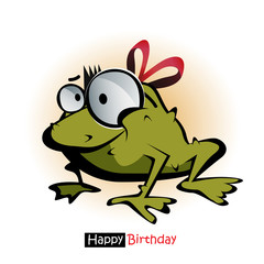 Happy Birthday smile frog