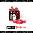 Happy Birthday smile gift birds