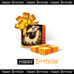 Happy Birthday smile gift dog funny