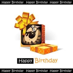 Happy Birthday smile gift dog funny