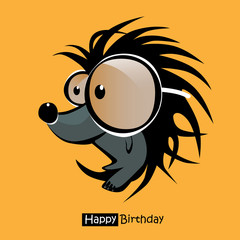 Happy Birthday smile hedgehog