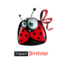 Happy Birthday smile ladybird