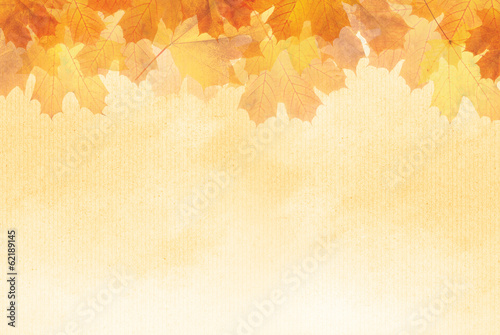Textured Autumn leaf background with room for copy space. poster