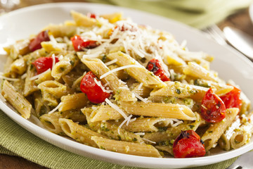 Light Homemade Pesto Pasta