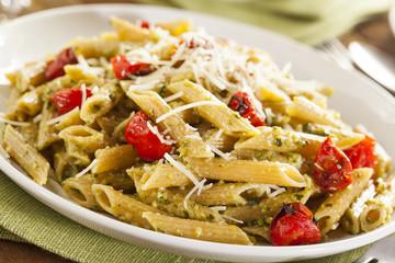 Light Homemade Pesto Pasta