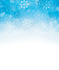 Textured snowflake background with room for copy space.