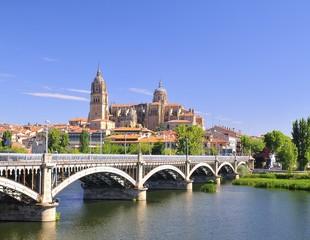 Catedral de Salamanca desde el Tormes.