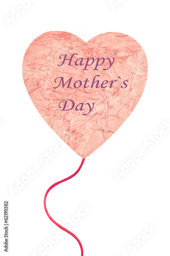 Decorative pink heart, isolated on white