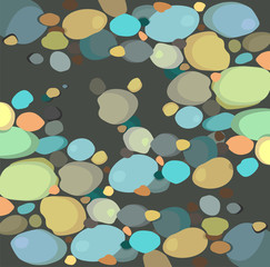 Abstract multicolored stones