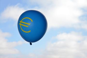 Euro, Luftballon, Euroschwäche, Wertverlust, Währung, EZB
