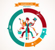 Super Mom - infographic of multitasking mother - 62191183
