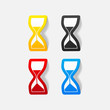 realistic design element: hourglass