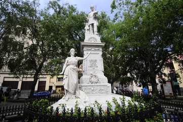 Statue of Francisco de Albear in Havana, Cuba