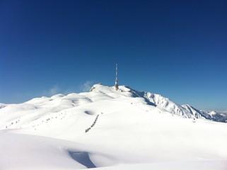 Winter am Gipfel des Dobratsch