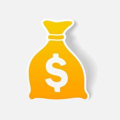 realistic design element: money, sack