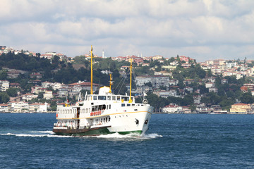 Ferry heading Asia from European Side of Istanbul