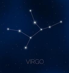 Virgo constellation in night sky
