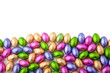Mini chocolate eggs wrapped in colourful foil - 62194708