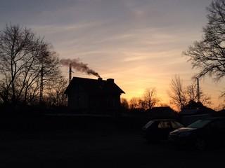 Sonnenaufgang mit Himmlischer Kulisse