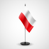 Table flag of Poland