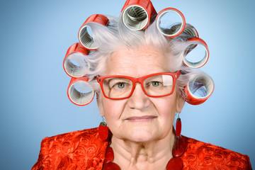 old modern lady