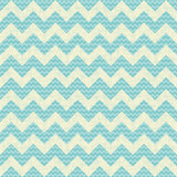 vector Seamless chevron pattern on linen turquoise canvas