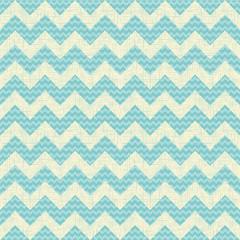 vector Seamless chevron pattern on linen turquoise canvas