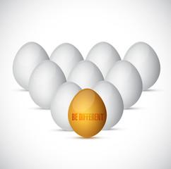be different. eggs illustration design