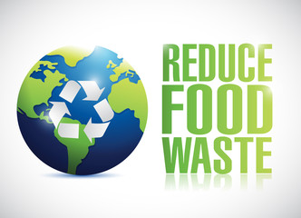 reduce food waste sign illustration design