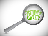 customer loyalty under review illustration design