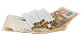 euro bills and cigarette