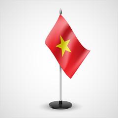 Table flag of Vietnam