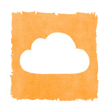 Social Media Cloud Painted Orange Box Frame