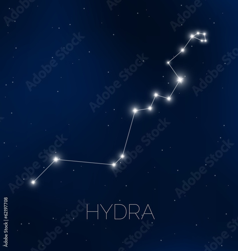 Hydra constellation in night sky