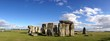 Stonehenge among blue sky