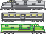 Glossy locomotive vector