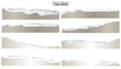 Collection of torn papers on white background, vector - 62198301