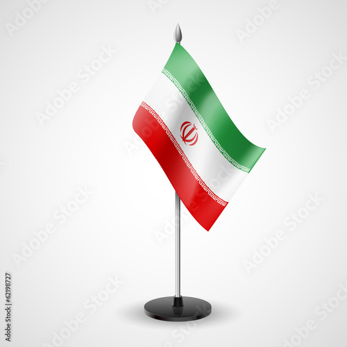 Table flag of Iran